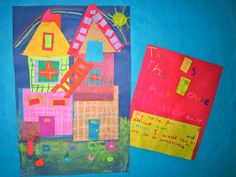 """SunDoodles: Art & Literature """"This is the House That Jack Built"""" by Simms Taback"""