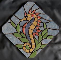 Mosaic Garden Art, Mosaic Tile Art, Mosaic Artwork, Mosaic Crafts, Mosaic Projects, Sea Glass Mosaic, Stone Mosaic, Stained Glass, Mosaic Designs