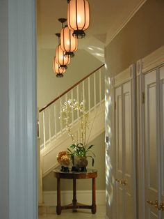 Candace Barnes / SF - fabulous Chinese - style lighting fixtures.