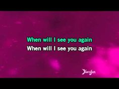 ▶ Karaoke When Will I See You Again - The Three Degrees * - YouTube