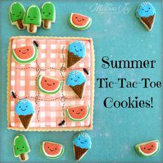 Summer Tic Tac Toe Cookies by Melissa Joy