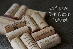 mylifeasateacup: DIY Project: How to Make a Wine Cork Coaster