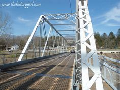 Washington Crossing Bridge, Washington's Crossing, NJ. This double-intersection Warren through-truss bridge was built in 1904 by the Taylorsville Delaware Bridge Company. The bridge is currently owned and operated by the Delaware River Joint Toll Bridge Commission. Discover more history @ www.thehistorygirl.com
