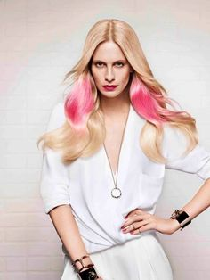 IT LOOKS #hairstyles 2014#pink hairstyles#blond hairstyles#long hairstyles# loreal professionnel#
