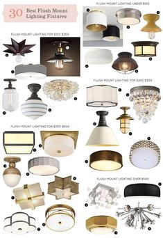 The 30 Best Flush Mount Lighting Fixtures | Making it Lovely | Bloglovin'