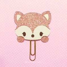Rose Gold Fox Paperclip/Planner Clip by KawaiiSugarNSpice on Etsy