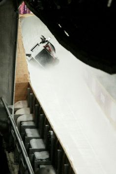 Pilot Justin Kripps, Jesse Lumsden, Cody Sorensen and Ben Coakwell of Canada team 3 crash while competing during the Men's Four Man Bobsleigh heats (c) Getty Images