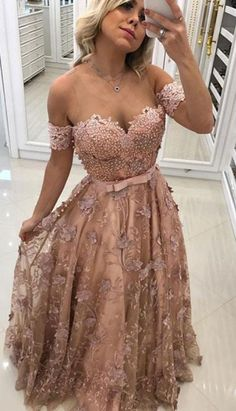 Stylish Tulle Lace Long Prom Dress, Formal Dresss