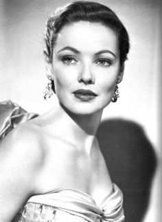 Gene Tierney, born Gene Eliza Tierney, Actress on stage and screen. Known for her high cheekbones and sheer beauty. by mflosi Old Hollywood Glamour, Golden Age Of Hollywood, Vintage Glamour, Vintage Hollywood, Hollywood Stars, Vintage Beauty, Classic Hollywood, Classic Actresses, Hollywood Actresses
