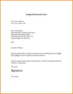 Want A Sample Retirement Letter To Inform Your Employer Of Anticipated Appreciates An Official In Personnel File