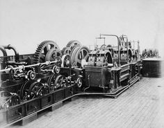 Cable Laying Machinery on SS 'Great Eastern' - SS Great Eastern - Wikipedia