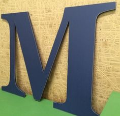 """Big extra large wooden letter M 30"""" slightly distressed on edges.  by ASimplePlaceOnMain"""