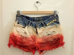 Red White and Blue Studded Shorts.