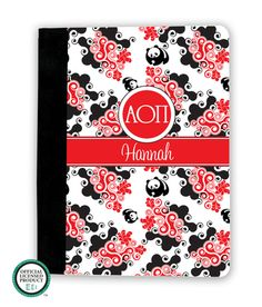 Alpha Omicron Pi Swirl iPad Cover
