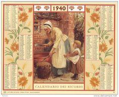 Calendario dei ricordi anno 1940