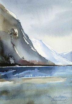 Kazimierz Twardowski; W drodze na lodowiec - By the way to the glacier - En route vers le glacier, 38 x 28, 2005