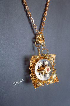 Bijoux créateurs pendentif métal. Elara : Pendentif par et666