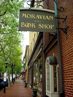 Moravian Book Shop in Bethlehem, Pennsylvania - founded in 1745 - it is the oldest bookstore in the US