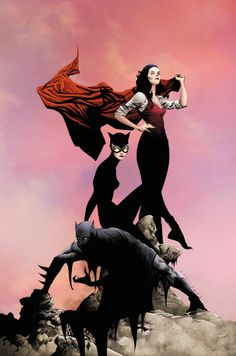 "Batman/Superman #13. Why do I love this cover? It's poised movement. Artist Jae Lee has taken Lois Lane, Catwoman, and Bateman and created a beautiful setting. I love his use of black in this cover, how the black ink flows from Batman up into the form of Selena Kyle and then into Lois Lane. Yet Lois is holding Superman's cape and it helps keep the color and lower darkness at bay. Then there is Lois holding Superman's cape? It immediately asks the question, ""Well, where is Man of Steel…"