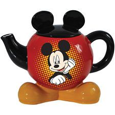 Mickey Mouse Teapot With Feet For Base And Ears For Lid