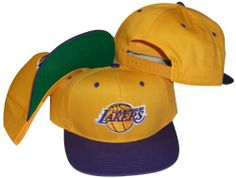 Los Angeles Lakers Yellow Purple Two Tone Plastic Snapback Adjustable  Plastic Snap Back Hat   Cap Make a fashion statement while wearing this  retro vintage ... 6a576d29dfa7