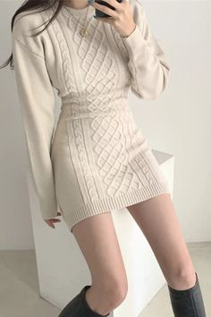 Sweater Dress Outfit, Long Sleeve Sweater Dress, Knit Dress, Dress Brands, Dress Casual, Casual Dresses For Women, Short Dresses, Bodycon Dress, Body Curves