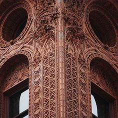 The terra cotta cladding every inch of the Guaranty Building in Buffalo New York is a work of art. Building by Sullivan and Adler. Completed in 1896