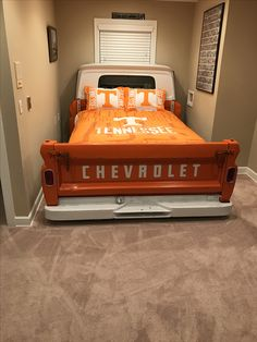 A Bed Made From The Bed Of A Classic Chevy Pickup How Cool Is This