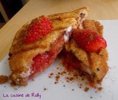Croque sucré fraise, nougat, speculoos