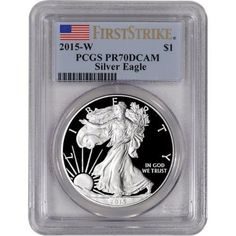 2015-W $1 PROOF Silver Eagle 1oz Coin PCGS PR70 First Strike HIGHEST GRADE GIVEN