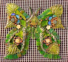 Butterfly in Green's by Doreen Bell Mosaic, via Flickr
