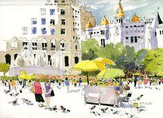 Resultado de imagen de urban sketching