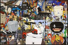 Roger Shimomura's Paintings, Performance and Sculpture - Official Web Site -- Roger Shimomura's paintings, prints and theatre pieces address socio-political issues of Asian America and have often been inspired by the diaries of his family