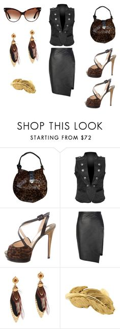 """Untitled #555"" by jessica-uyvette-thompson ❤ liked on Polyvore featuring Jimmy Choo, Christian Louboutin, Peridot London, Gas Bijoux, Jona and Christian Dior"