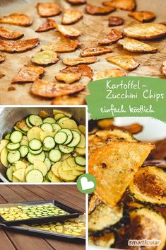 Chips selber machen, so einfach geht's! Klassisch aus Kartoffeln oder Zucchini The evening snack is unhealthy and makes you fat quickly. You can easily make delicious and healthy potato chips and zucchini chips yourself. High Protein Recipes, Healthy Protein, Healthy Snacks, Healthy Recipes, Healthy Chips, Zucchini Chips, Evening Snacks, Evening Meals, Easy To Digest Foods