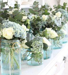 Arranjos em potes para presentear e decorar Olha que graça essa composição! Faça sua encomenda!!