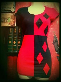 Harley Quinn Dress, I so need to make this for Halloween next year!