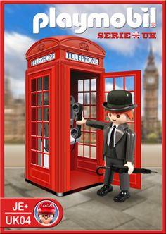 Playmobil Ref.UK04, Descripción: Cabina de Teléfonos Clásica de Londres  Categoría: Londres  http://www.playmoplanet.com/tienda
