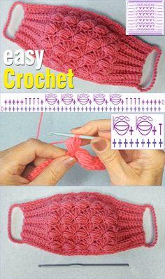 Crochet Cord, Crochet Mask, Basic Crochet Stitches, Crochet Gifts, Easy Crochet, Free Crochet, Crochet Patterns, Half Double Crochet, Single Crochet
