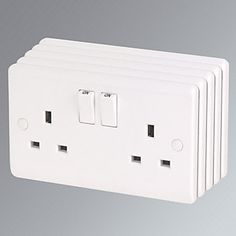 Mk 13a 2 Gang Double Pole Switched Socket Amp 2 1a Usb