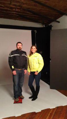 Good looking people wearing the GlowRider Jacket! #AdaptivTech #GlowRider