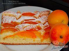 Kynutý meruňkový koláč posypaný cukrem | NejRecept.cz