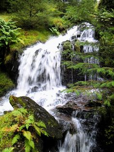 'Hillside Waterfall' -    Ronnie Reffin |  Water falls down the hill overlooking the Rest And Be Thankful