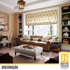 Inspiração clássica e elegante para os amantes de conforto e tons sóbrios. O que achou desta sala de estar? ;)