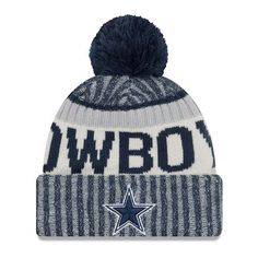 Dallas Cowboys New Era Youth 2017 Sideline Official Sport Knit Hat - Navy - $23.99