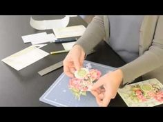 Video Tutorial - Anna Griffin's How To Make A Pretty Paintings Three-Dimensional Card - YouTube
