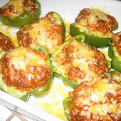 LOVE the flavor of these stuffed peppers! Click for recipe