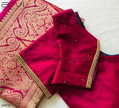 Hand Work Blouse Design, Simple Blouse Designs, Blouse Neck Designs, Simple Embroidery Designs, Kanjivaram Sarees Silk, Kids Frocks, Hand Designs, Embroidered Blouse, Bridal Lehenga