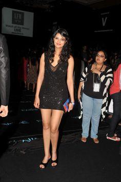 Neha Dhupia, Neetu Chandra and Sayali Bhagat at LFW Winter 2012.   Bollywood Cleavage