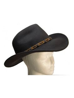 6d56ba1f5e2 Brown Wool Felt Outback Cowboy Hat with Leather Band by Goal 2020 -  CT1181RD69X. Hats For WomenClothes ...